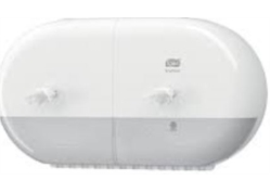 "DISTRIBUTEUR PAPIER TOILETTE LOTUS""SmartOne"" Mini double ABS BLANC"