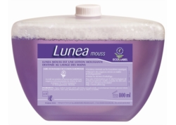 LUNEA MOUSSE savon main Hypoallergénique ECOLABEL Cart800ml CA 8