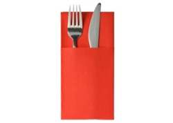 SERVIETTE POCHETTE LUNCH CELISOFT ROUGE 40x40 CA 500