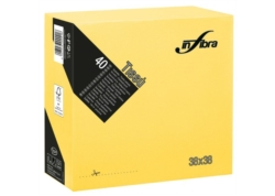 SERVIETTE Double Point INFIBRA TISSU 2P 38x38 JAUNE VIF CA1440 36x40