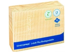 LAVETTE CHICOPEE J-Cloth PLUS BIODEGRADABLE Alim 43x32 JAUNE les 50