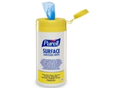 PURELL SANITISING WIPES Désinf. Surf ALIM 185x215 Bte 200 ling(CA6)