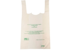 SAC BRETELLE BIOPLAST BIODEGRADABLE&COMPOSTAB. 300x150x500 15µ CA1000